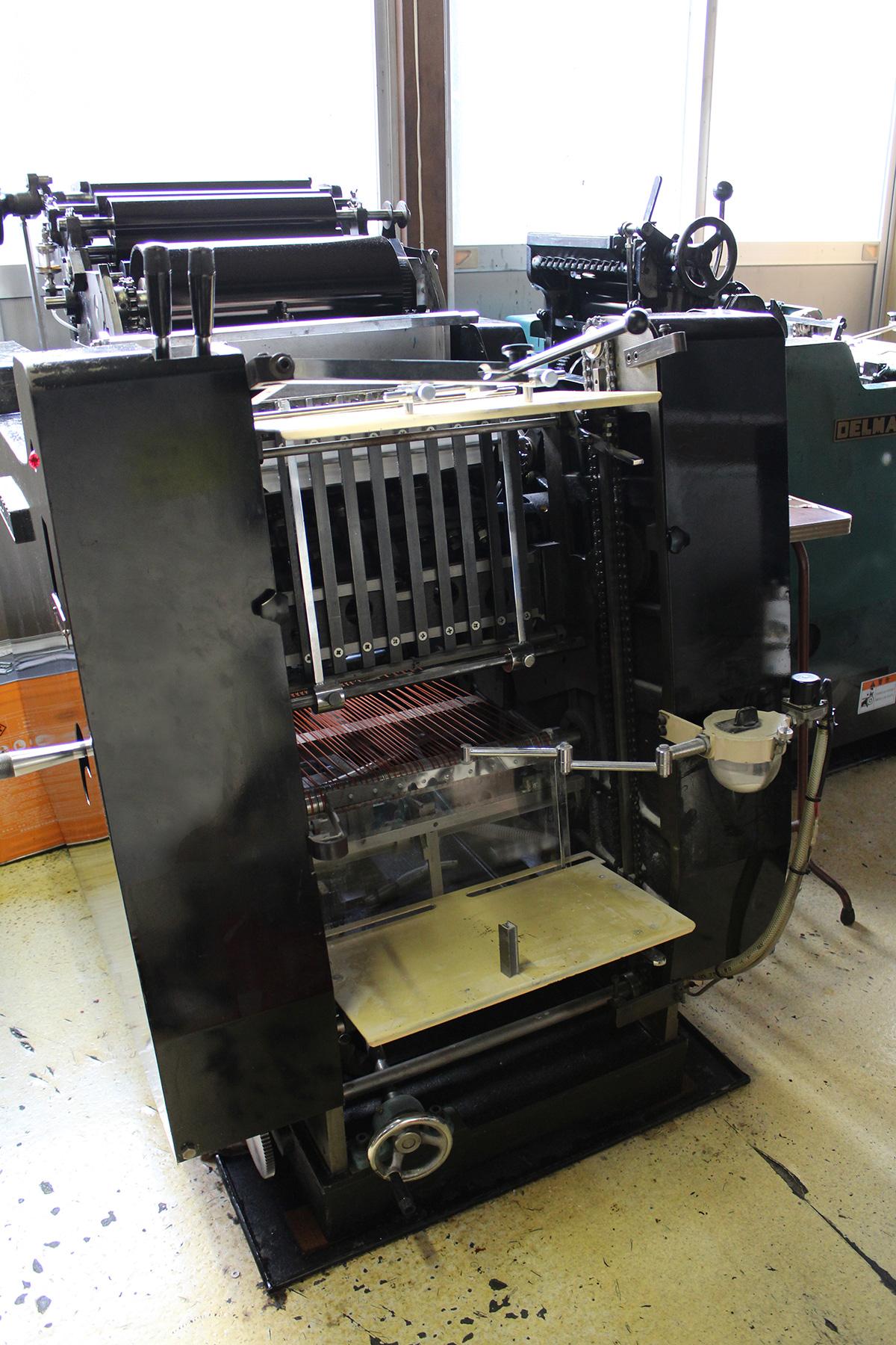 活版印刷機「DELMAX 78型」