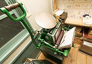 大阪 河童堂 活版印刷機