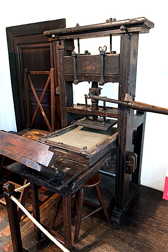 現在保存されている最古の活版印刷機。