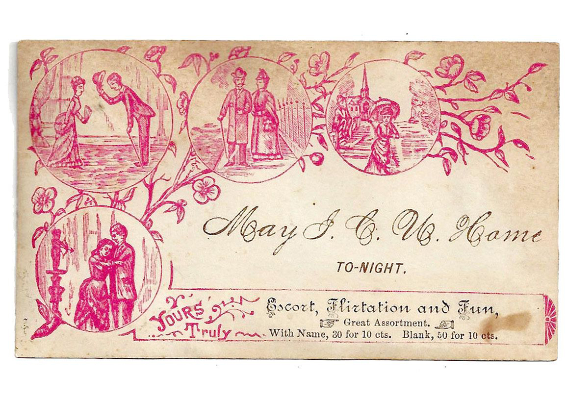 二百年前流行した交友カード