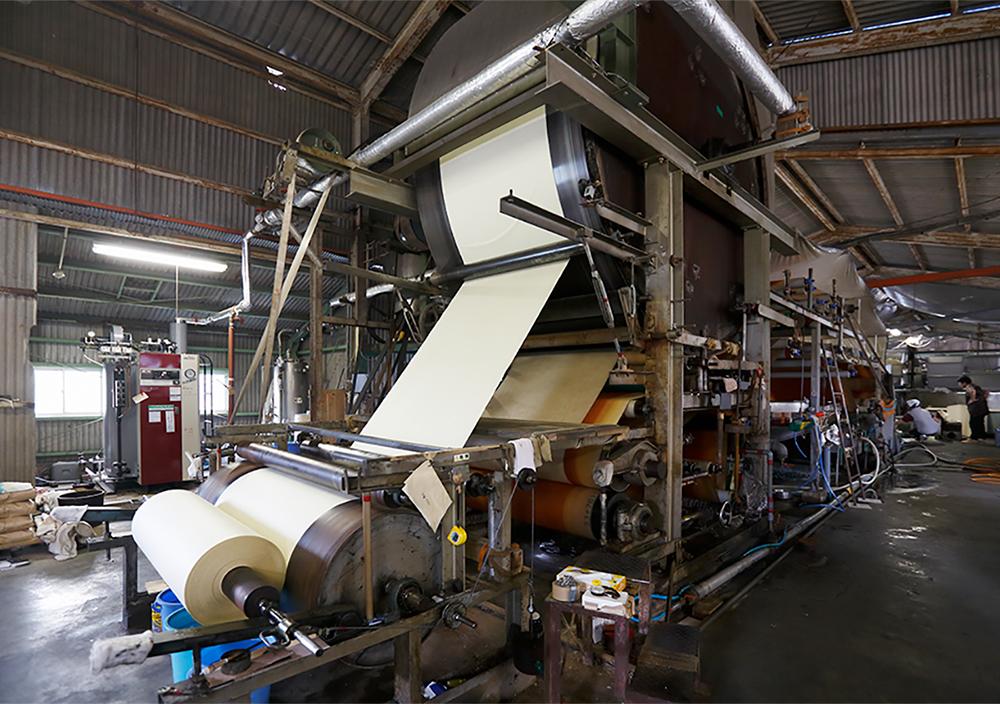 機械抄き和紙の産地