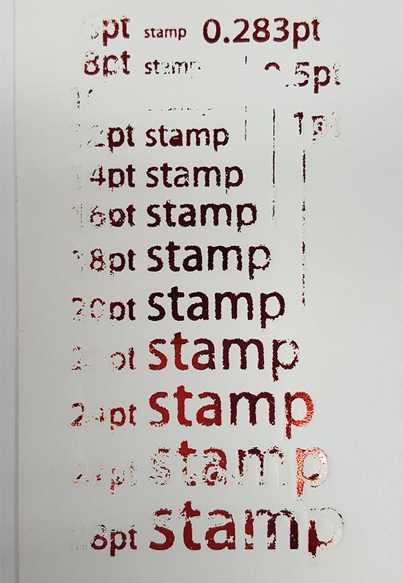 活(い)きた版 「箔押しその4」 - 株式会社和光 | 活版印刷研究所