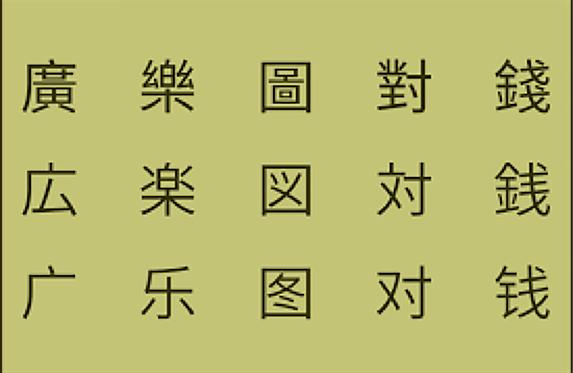 簡体字の字例 - 文字のある風景⑧ 『書体』~AI時代の文字のカタチ~ - 森カズオ | 活版印刷研究所