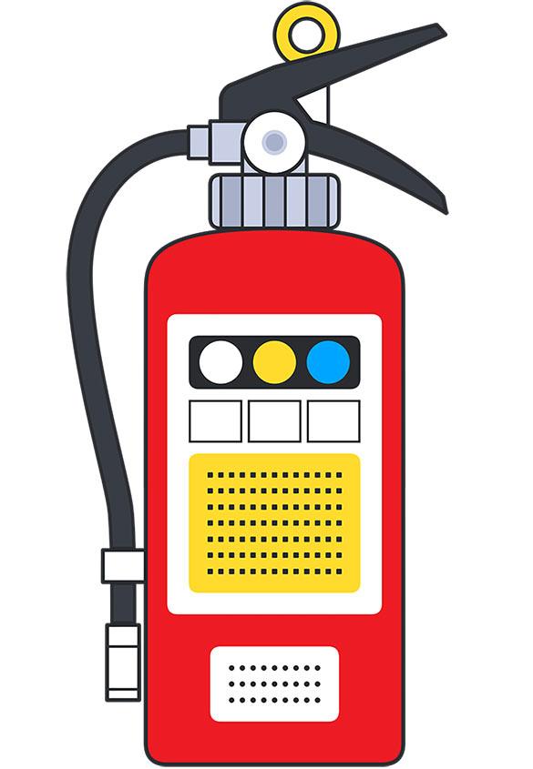 (写真1)消化器 | 色がもたらす影響や意味合い「赤」 - 三星インキ株式会社 | 活版印刷研究所