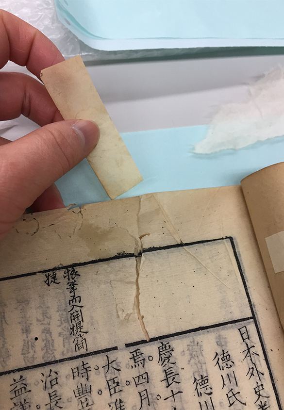 写真① | 「直す」と「解体する」 - 京都大学図書館資料保存ワークショップ | 活版印刷研究所