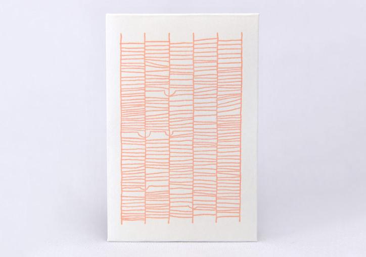 あみだくじ | 活版印刷と和紙「活版印刷で表現できるシャープな線の事例」 - 株式会社 オオウエ | 活版印刷研究所