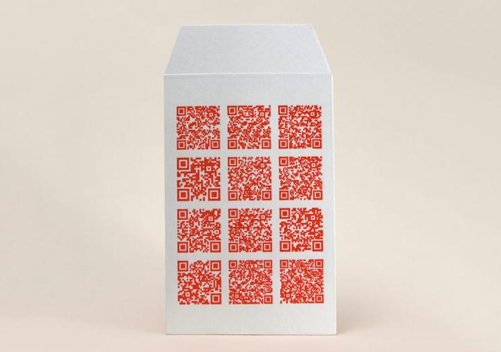 QRコード | 活版印刷と和紙「活版印刷で表現できるシャープな線の事例」 - 株式会社 オオウエ | 活版印刷研究所