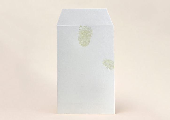 指紋 | 活版印刷と和紙「活版印刷で表現できるシャープな線の事例」 - 株式会社 オオウエ | 活版印刷研究所
