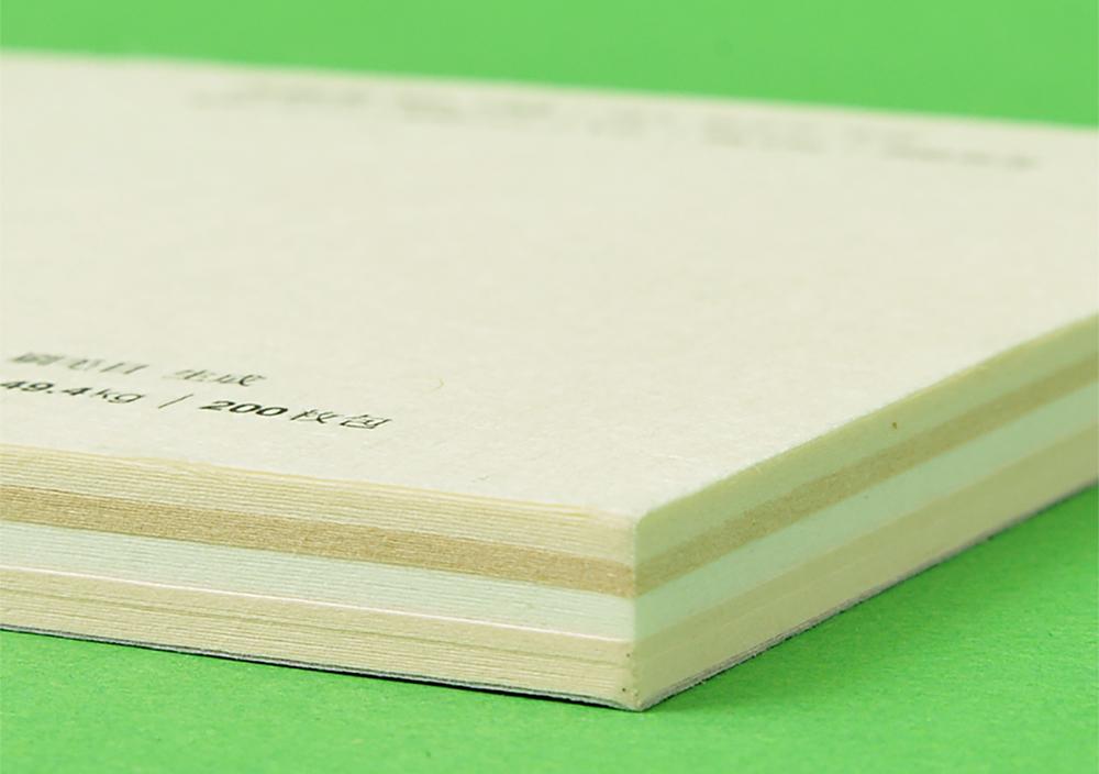 5種類の和紙を10枚ずつ綴じ込んだ 見本帳 写真3 | 書いて楽しむ見本帳 - 株式会社 オオウエ | 活版印刷研究所