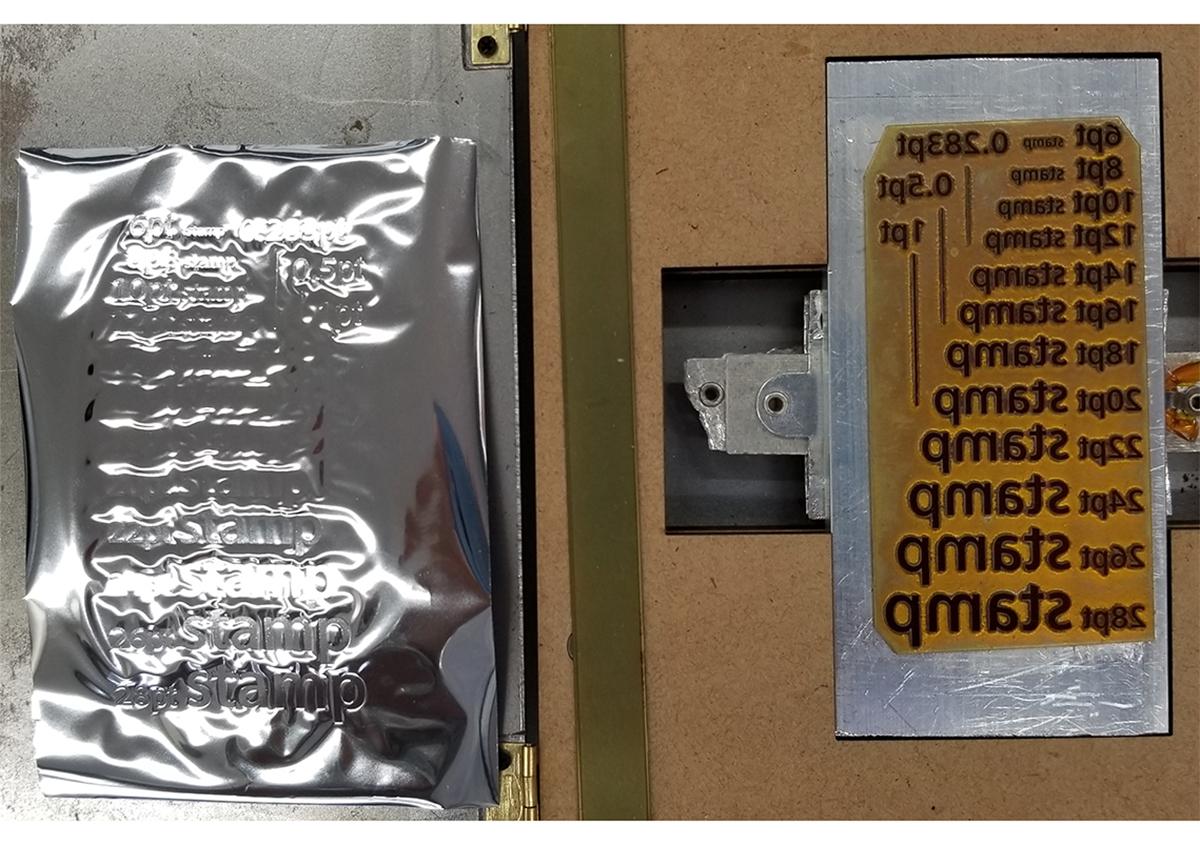 (写真5) | 活(い)きた版 「 箔押し その10 」 - (株)和光 | 活版印刷研究所
