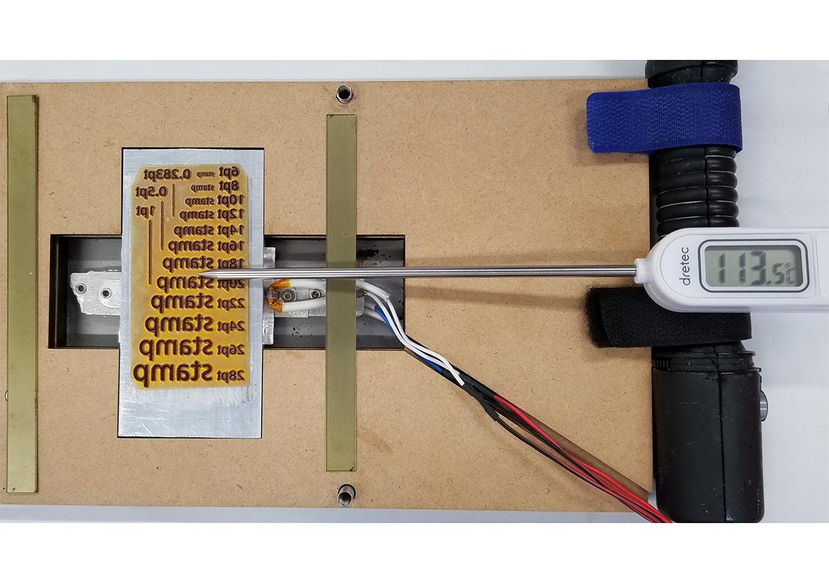 (写真4) | 活(い)きた版 「 箔押し その10 」 - (株)和光 | 活版印刷研究所