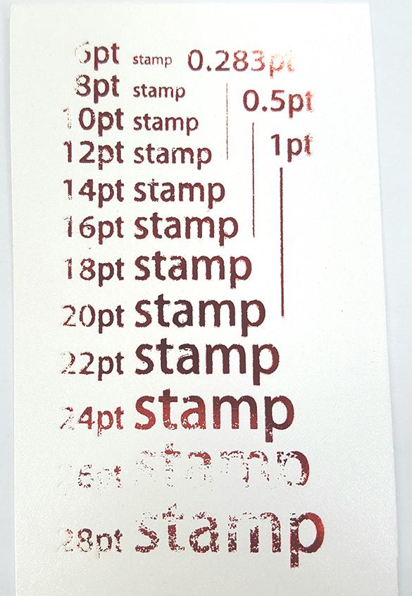 (写真7) | 活(い)きた版 「 箔押し その10 」 - (株)和光 | 活版印刷研究所