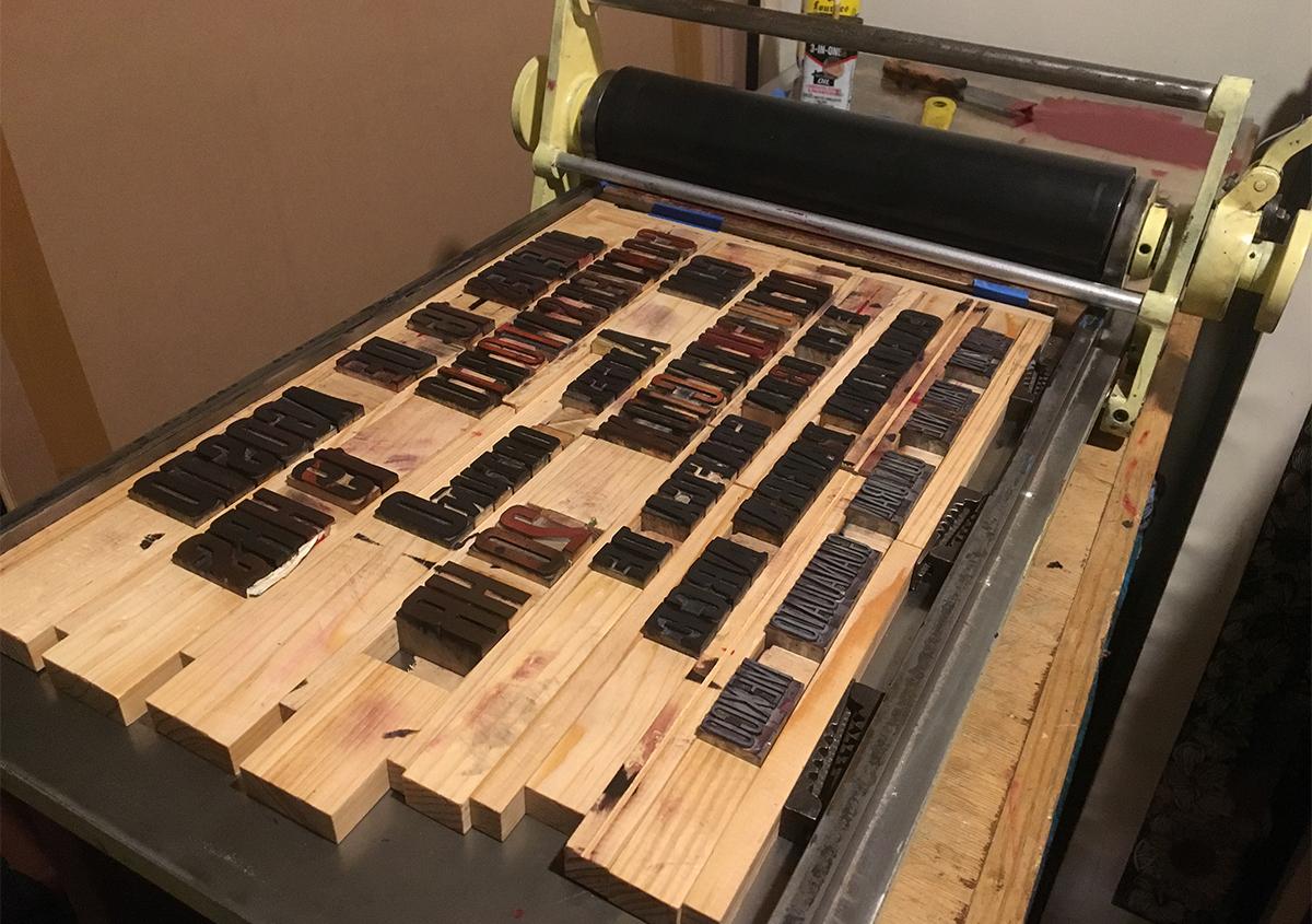 (写真4) | 活版印刷チラシ を始めた工房 - アミリョウコ | 活版印刷研究所