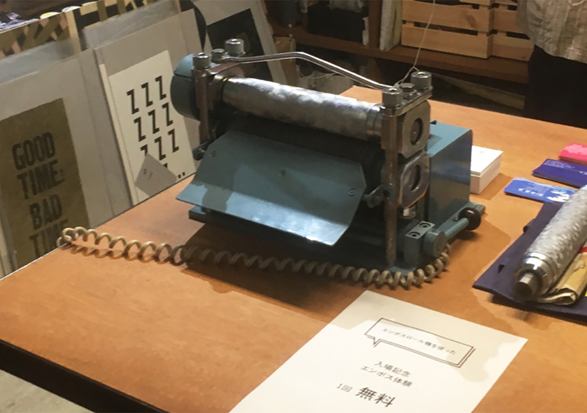(写真7)今後はワークショップなどに積極的に出店し、エンボスの魅力を伝える活動を増やす予定。 | 第12回「深くて面白い エンボス加工 の世界」 - 池ヶ谷紙工所 | 活版印刷研究所