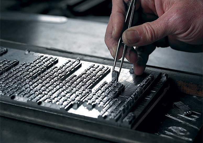 活字組版は全部手作業 | Folio Society 出版社 - Miki Wang | 活版印刷研究所
