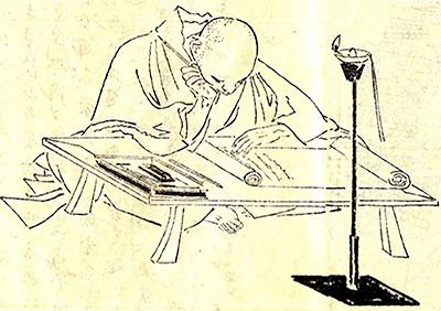 吉田兼好像 | 文字のある風景⑮ 『かきつばた』~ 折句・沓冠 の深み~ - 森カズオ | 活版印刷研究所