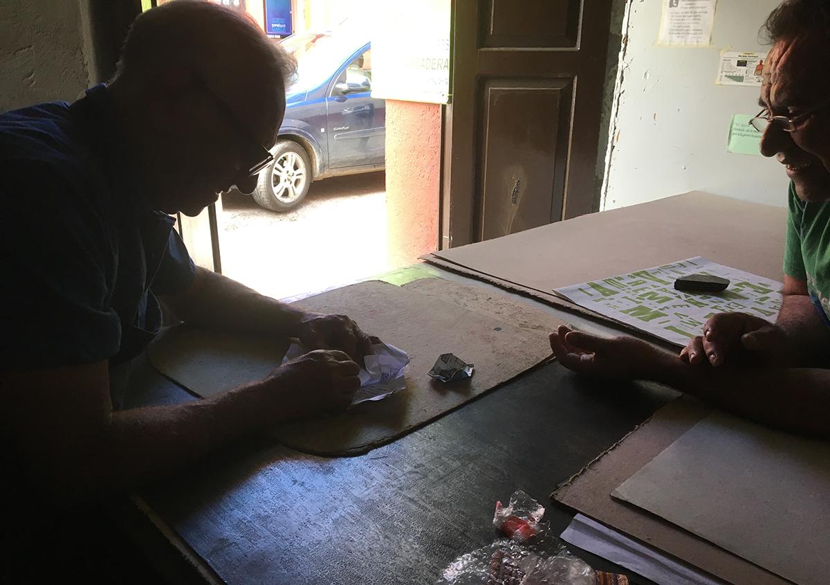 日本語の活字をオアハカで印刷する プロジェクト①