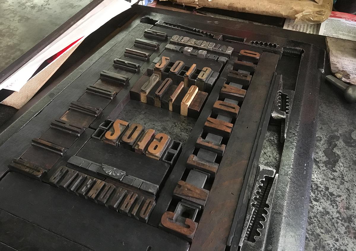 写真9 | 日本語の活字をオアハカで印刷する プロジェクト② - アミリョウコ | 活版印刷研究所