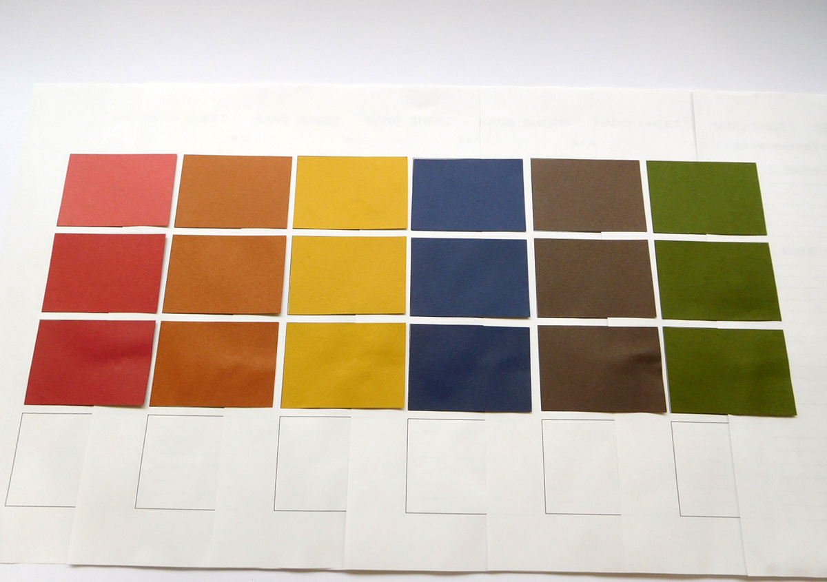 試作サンプル1 | 紙の色を決める - 平和紙業株式会社 | 活版印刷研究所