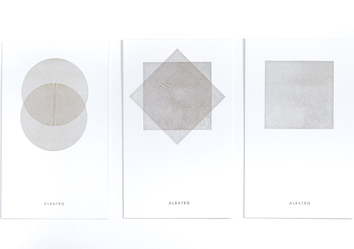 (写真14)線で構成された面を重ね刷りすると、独特なパターンが表れる。 | 活版印刷の技術で、複製できない価値を生み出す - 生田信一(ファーインク) | 活版印刷研究所