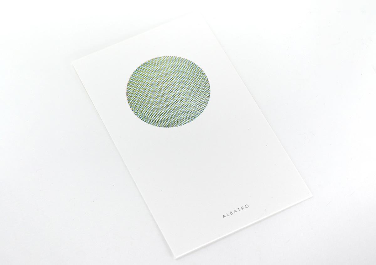(写真15)小さなドットで構成された面を重ね刷りし、視覚的な混色を表現した作品。 | 活版印刷の技術で、複製できない価値を生み出す - 生田信一(ファーインク) | 活版印刷研究所
