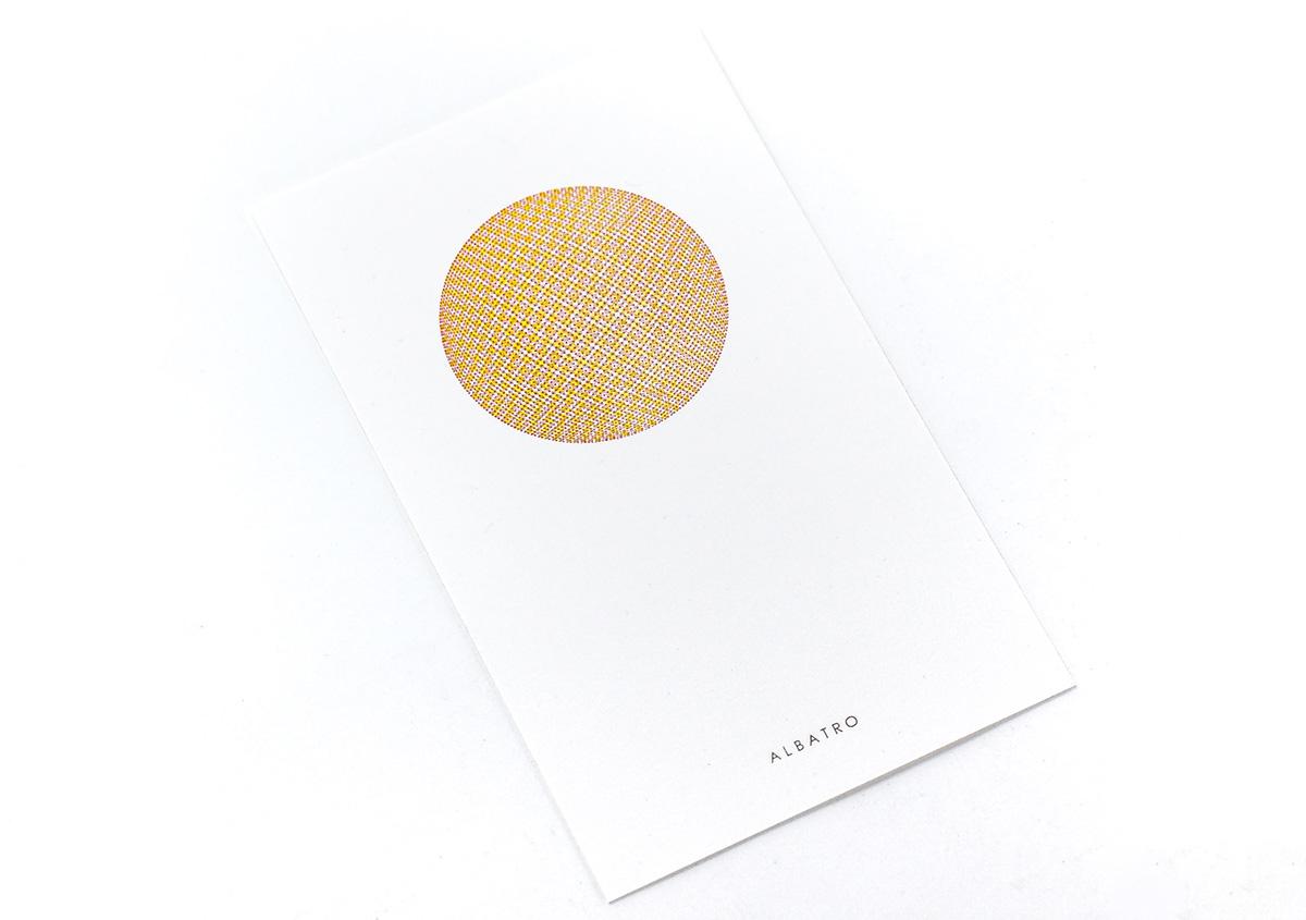 (写真17)小さなドットで構成された面を重ね刷りし、視覚的な混色を表現した作品。 | 活版印刷の技術で、複製できない価値を生み出す - 生田信一(ファーインク) | 活版印刷研究所