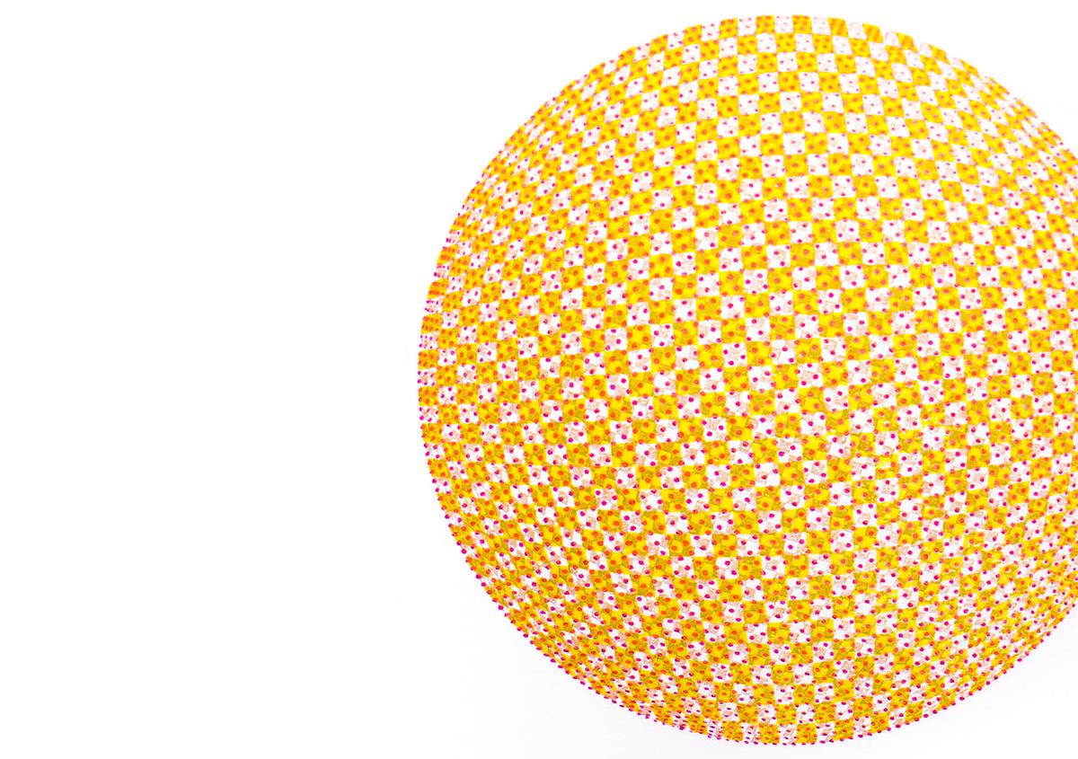(写真18)小さなドットで構成された面を重ね刷りし、視覚的な混色を表現した作品。 | 活版印刷の技術で、複製できない価値を生み出す - 生田信一(ファーインク) | 活版印刷研究所