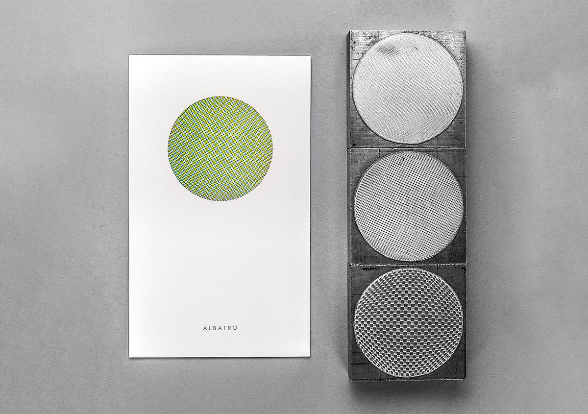 (写真20)小さなドットで構成された面を重ね刷りし、視覚的な混色を表現した作品。 | 活版印刷の技術で、複製できない価値を生み出す - 生田信一(ファーインク) | 活版印刷研究所