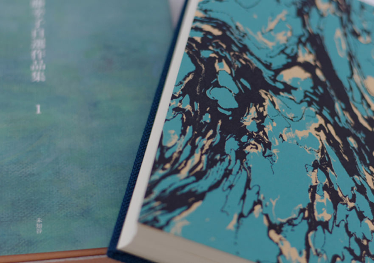 (写真21)『ポーランド文学 古典叢書 1晩歌/2ソネット集』未知谷〈見返し〉、活版印刷、2色印刷。< | 宮田印刷が手がける「 LETTERPRESS BOOK COVER 」 - 生田信一(ファーインク) | 活版印刷研究所