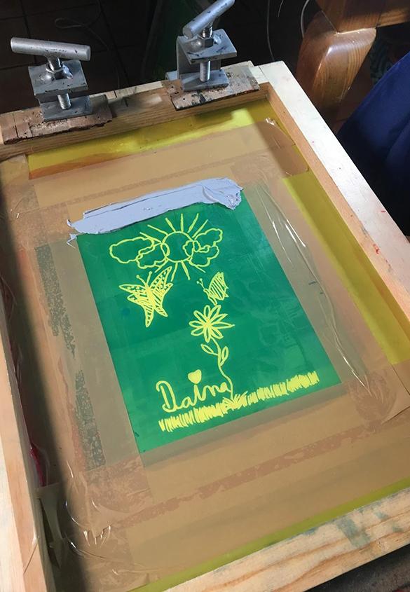 写真4 | シルクスクリーンのワークショップ - アミリョウコ | 活版印刷研究所