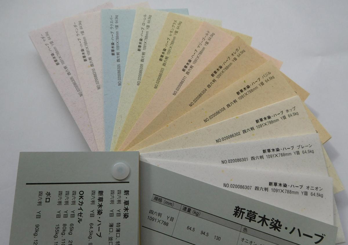 現在の商品ラインナップです。四六判Y目 全11色 3連量の商品です。 | 紙の色名を決める(その3) - 平和紙業株式会社 | 活版印刷研究所