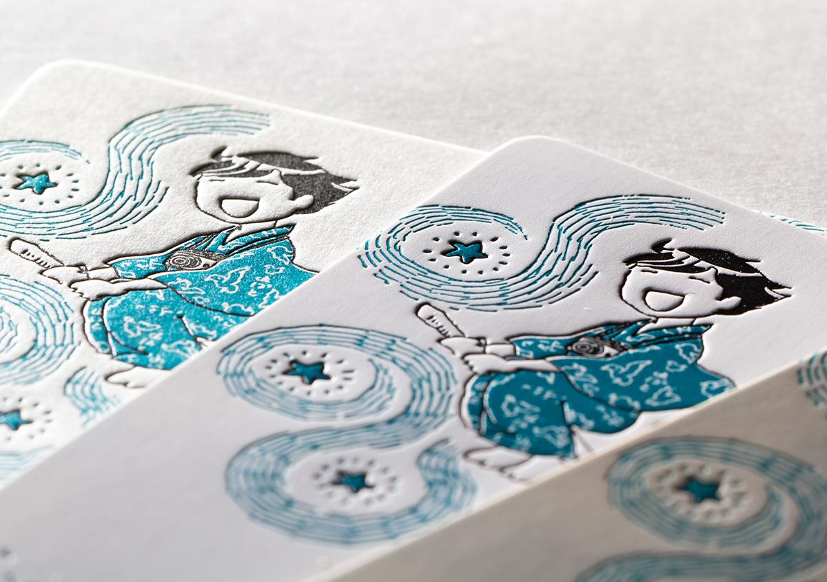 (写真15) | コミックエッセイ「温泉浴衣をめぐる旅」の特製しおりを活版印刷で作りました - 生田信一(ファー・インク) | 活版印刷研究所