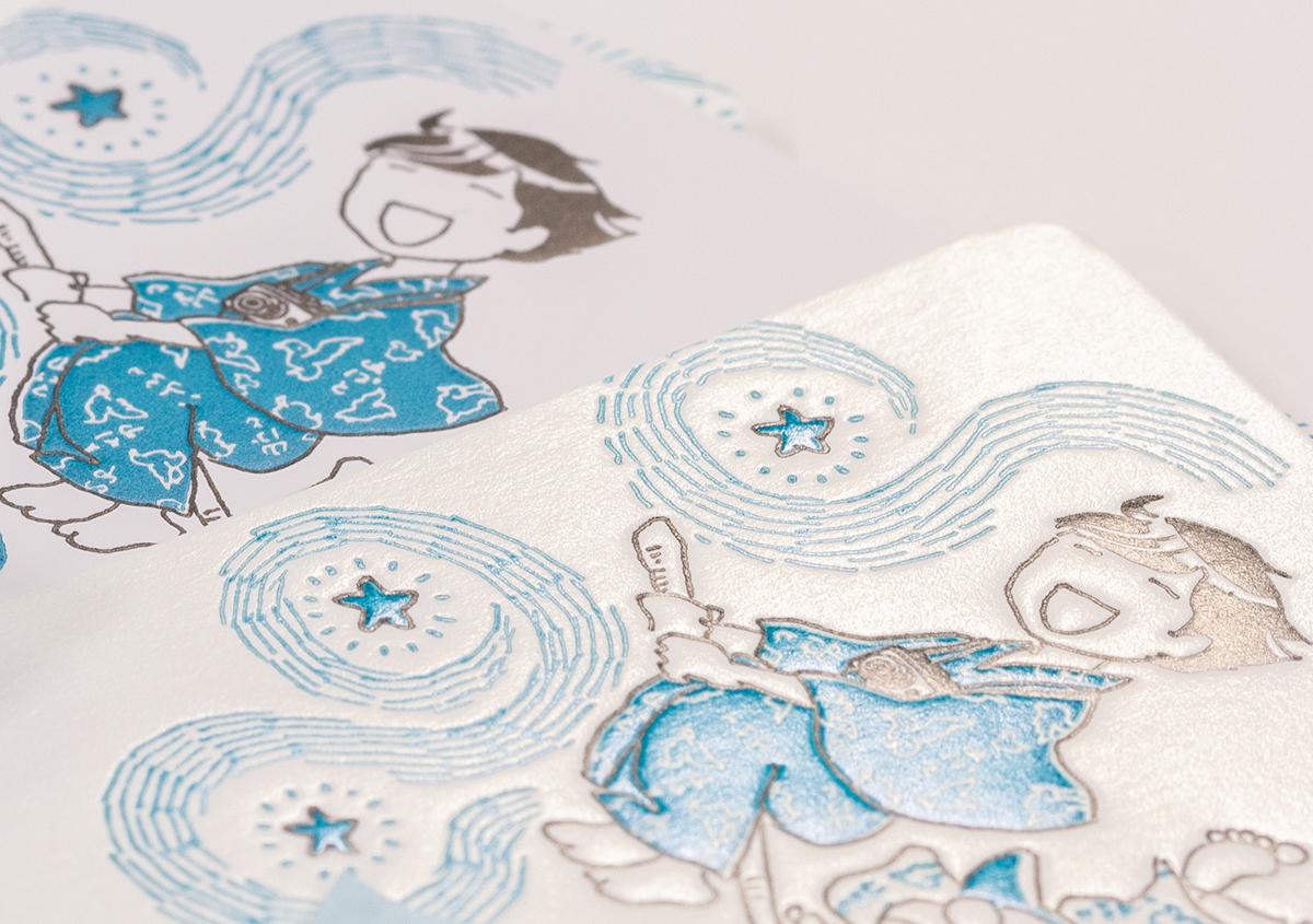 (写真19) | コミックエッセイ「温泉浴衣をめぐる旅」の特製しおりを活版印刷で作りました - 生田信一(ファー・インク) | 活版印刷研究所