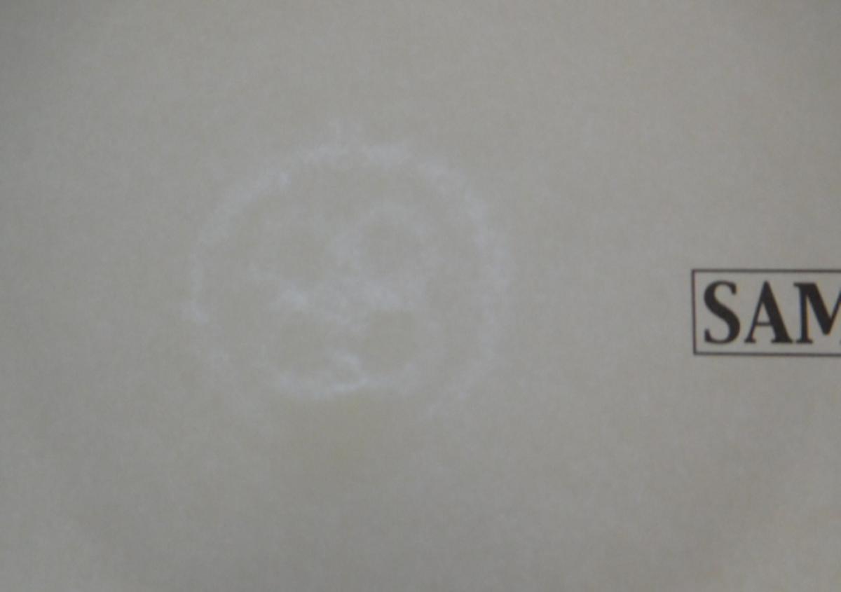 セキュリティー用紙 宙(そら) 1 | 機能のある紙(その1) - 平和紙業株式会社 | 活版印刷研究所