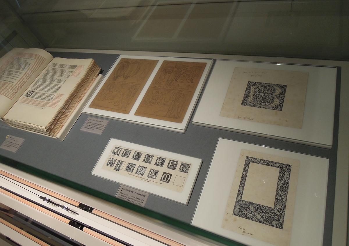 (写真7)ウィリアムモリス自筆の文字のデザイン画 | 株式会社モリサワへ行って来ました! - 京都大学図書館資料保存ワークショップ | 活版印刷研究所