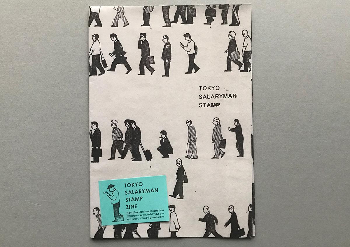 (写真1) | スタンプアート作品集「TOKYO SALARYMAN STAMP」(大嶋奈都子)の世界 - 生田信一(ファーインク) | 活版印刷研究所