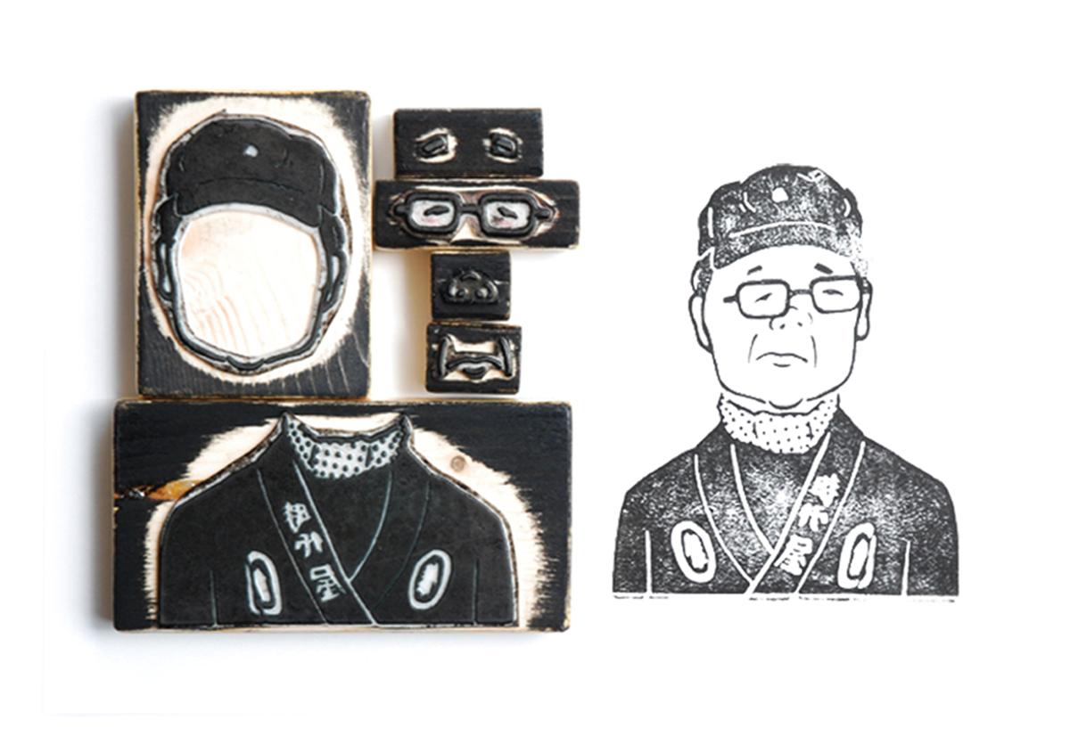 (写真10) | スタンプアート作品集「TOKYO SALARYMAN STAMP」(大嶋奈都子)の世界 - 生田信一(ファーインク) | 活版印刷研究所