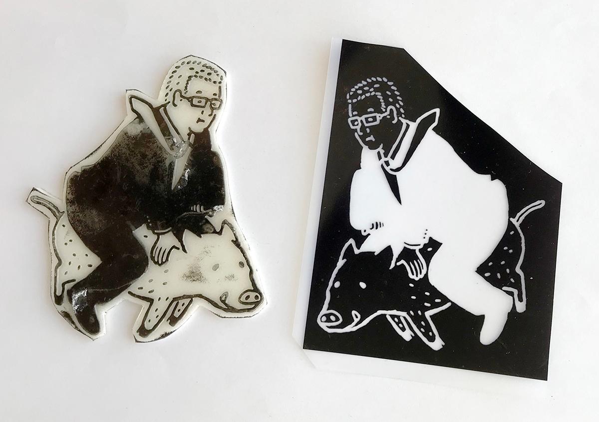 (写真11) | スタンプアート作品集「TOKYO SALARYMAN STAMP」(大嶋奈都子)の世界 - 生田信一(ファーインク) | 活版印刷研究所