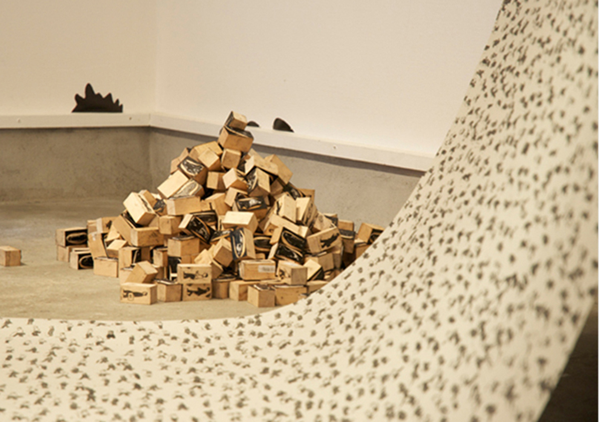 (写真12) | スタンプアート作品集「TOKYO SALARYMAN STAMP」(大嶋奈都子)の世界 - 生田信一(ファーインク) | 活版印刷研究所