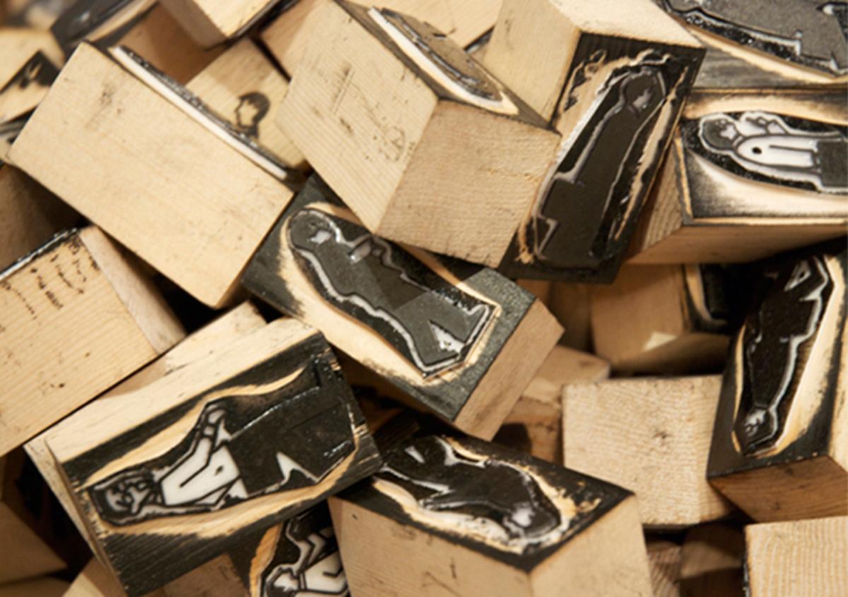 (写真13) | スタンプアート作品集「TOKYO SALARYMAN STAMP」(大嶋奈都子)の世界 - 生田信一(ファーインク) | 活版印刷研究所