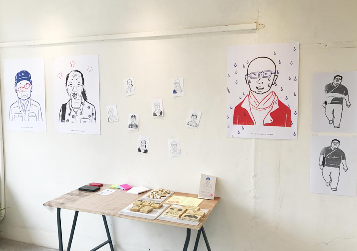 (写真14) | スタンプアート作品集「TOKYO SALARYMAN STAMP」(大嶋奈都子)の世界 - 生田信一(ファーインク) | 活版印刷研究所