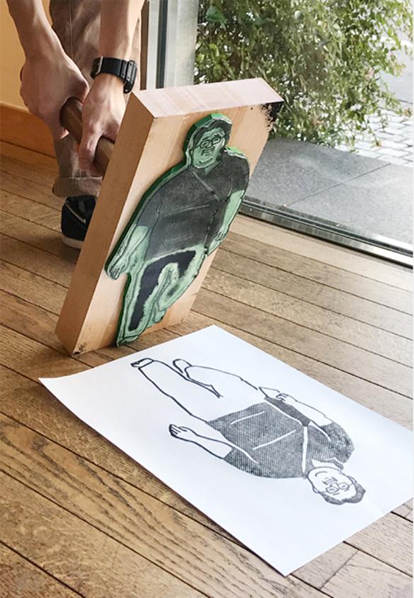 (写真17) | スタンプアート作品集「TOKYO SALARYMAN STAMP」(大嶋奈都子)の世界 - 生田信一(ファーインク) | 活版印刷研究所