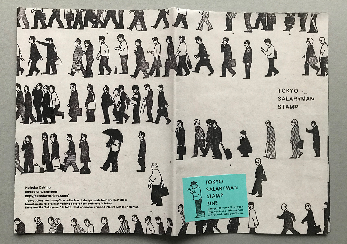 (写真2) | スタンプアート作品集「TOKYO SALARYMAN STAMP」(大嶋奈都子)の世界 - 生田信一(ファーインク) | 活版印刷研究所