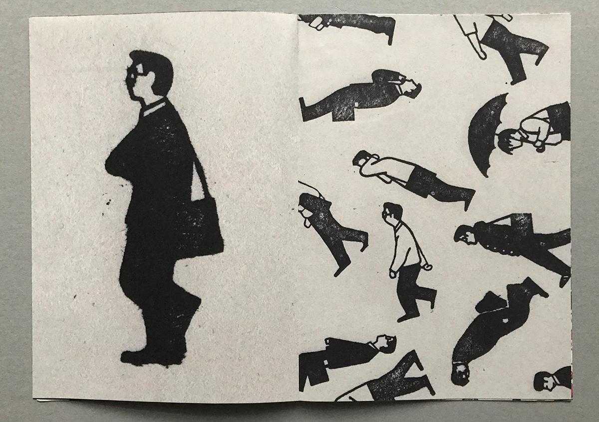 (写真3) | スタンプアート作品集「TOKYO SALARYMAN STAMP」(大嶋奈都子)の世界 - 生田信一(ファーインク) | 活版印刷研究所