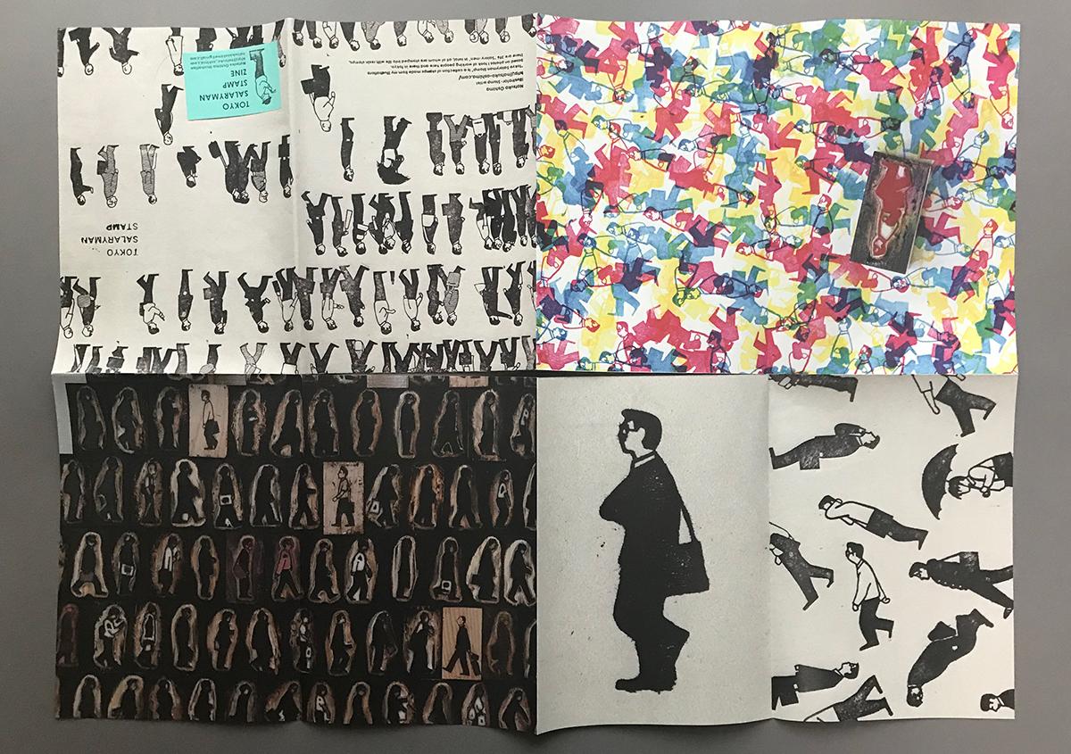 (写真6) | スタンプアート作品集「TOKYO SALARYMAN STAMP」(大嶋奈都子)の世界 - 生田信一(ファーインク) | 活版印刷研究所
