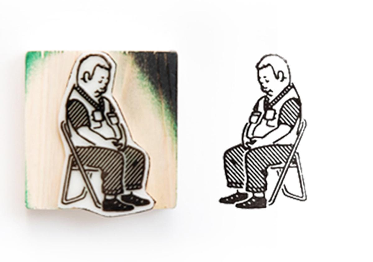 (写真9) | スタンプアート作品集「TOKYO SALARYMAN STAMP」(大嶋奈都子)の世界 - 生田信一(ファーインク) | 活版印刷研究所