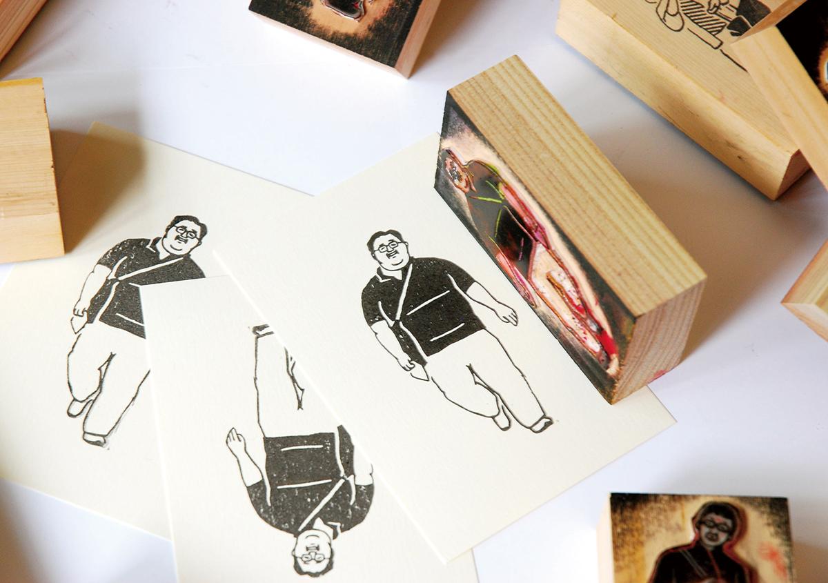 スタンプアート作品集「TOKYO SALARYMAN STAMP」(大嶋奈都子)の世界