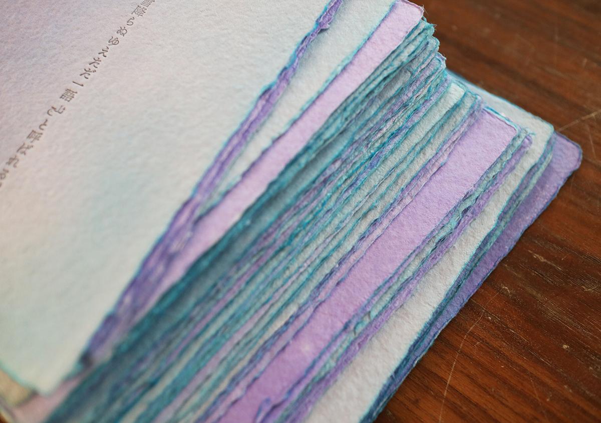 写真2 | 活版印刷と紙の染色 - Miki Wang | 活版印刷研究所