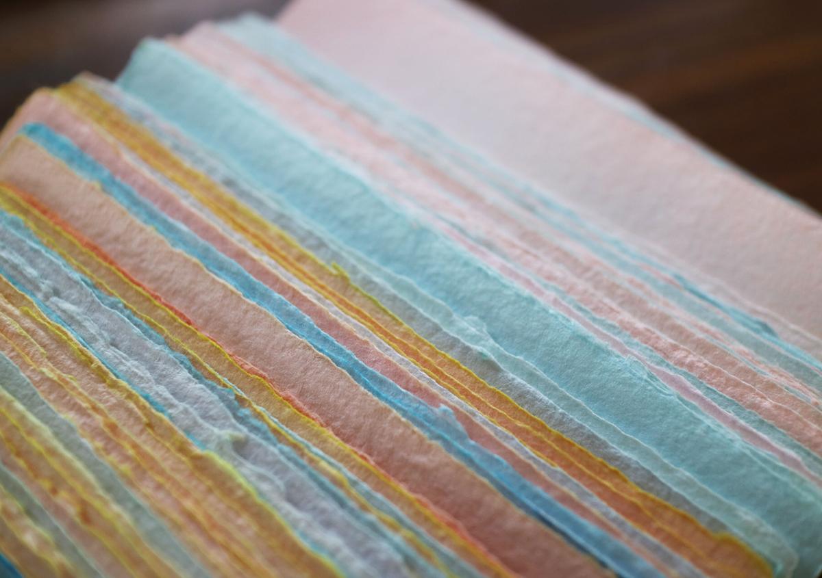 写真4 | 活版印刷と紙の染色 - Miki Wang | 活版印刷研究所