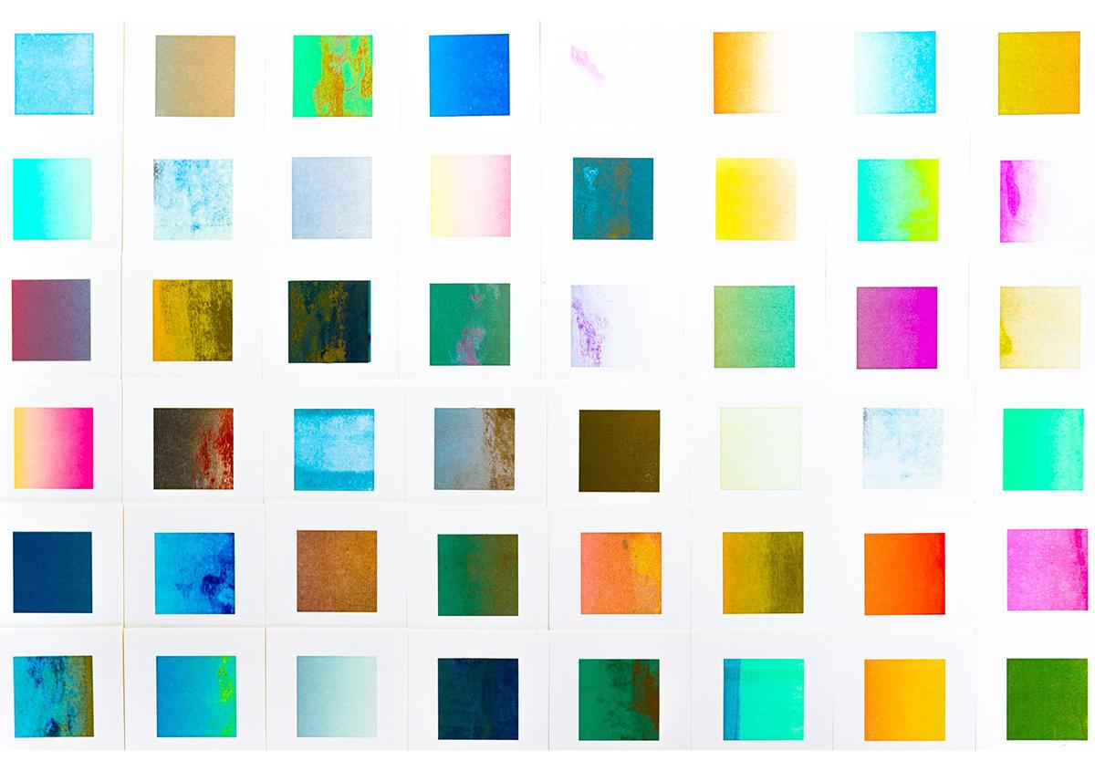(写真11)東京藝術大学内にある藝大アートプラザのショップカード。「ランダム印刷」の手法が使われている。 | 印刷カフェ Print+Plantが都立大学駅にオープン、不思議な空間を覗いてきました - 生田信一(ファーインク) | 活版印刷研究所